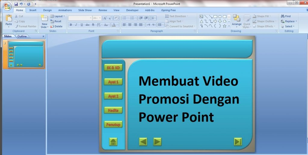 Membuat Video Promosi Dengan Power Point
